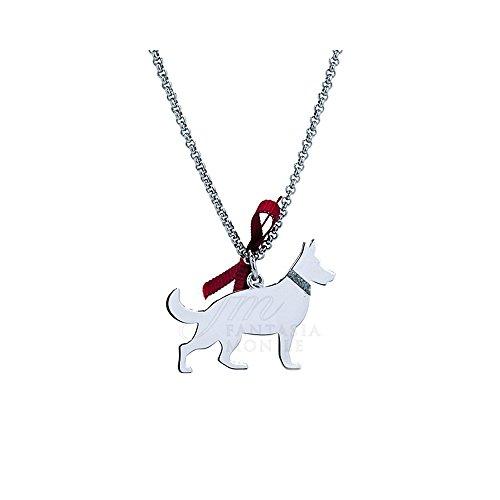 Halskette Charm Hund Deutscher Schäferhund, 925 % Silber, Dog Happy Pets Enpa Unoaerre 8345