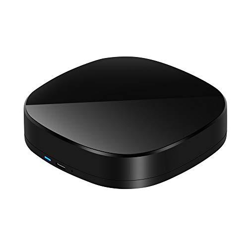 MingChuan - Mando a distancia con Wi-Fi para automatización de casa, compatible con Alexa y Google Home y IFTTT, mando a distancia por infrarrojos, color negro