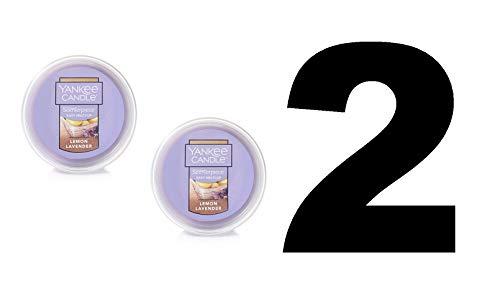 Yankee Candle 2 Lemon Lavender Scenterpiece Easy Meltcup Wax Melt Cup (NET WT 2.2 OZ | 61g Each)
