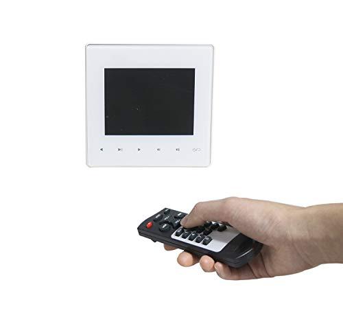 Amplificador de Audio Digital montado en la Pared, conectable a Altavoces 2X15W con Control Remoto inalámbrico / Pantalla LCD, Compatible con USB/SD/AUX/Bluetooth/FM