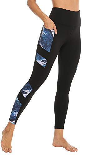 JOYSPELS Women's High Waisted Gym Leggings - Workout Running Sports Printed Leggings Yoga...