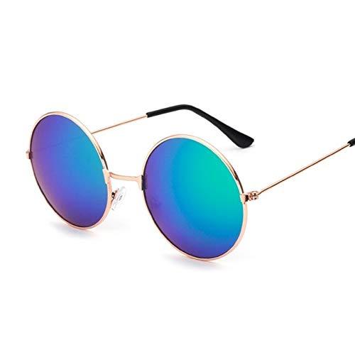whcct Moda Candy Vintage Espejo redondo Gafas de sol Mujer Gafas de sol de lujo Mujer