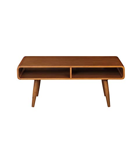 Boraam Zebra Series Halmstad Coffee Table, Rich Walnut