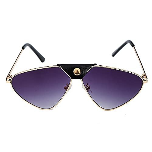 ShSnnwrl Único Gafas de Sol Sunglasses Gafas De Sol Steampunk Vintage para Mujer, Gafas De Sol De Piloto con Espejo A La Moda, Ga