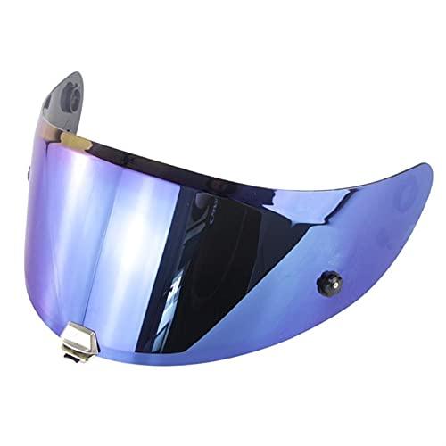 Lente de visera de casco de motocicleta, Para RPHA 11 RPHA 70 S T Casco Visor Casco de Motocicleta Casco Len Casco Completo Casco Visor Lente Estuche Anti-Ultraviole Moto Casco Len ( Color : Blue )