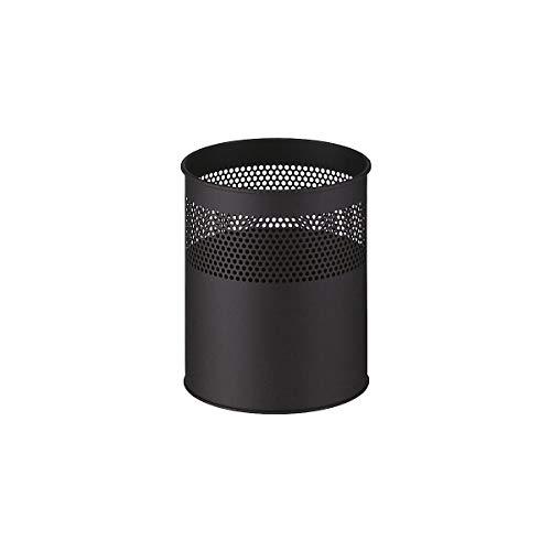 Papierkorb, rund, Inhalt 30 l, schwarz - Papierkörbe Sicherheitspapierkörbe Abfalltrennsysteme Universalmüllsammler