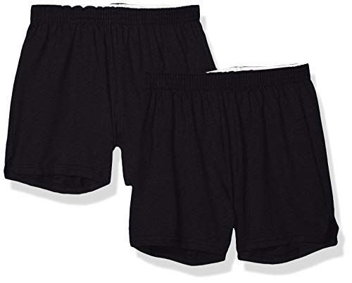 Soffe Juniors' Authentic Cheer Short, Black, Medium (2-Pack)