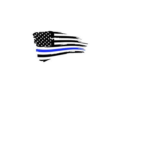 Blauwe lijn Vlag Decal - Tattered Red Line Vlag Decal - Gouden Lijn Vlag Decal - Witte Lijn Vlag Decal - Groene Lijn Vlag - Eerste Responder Gift Gemakkelijk aan te brengen en verwijderbaar
