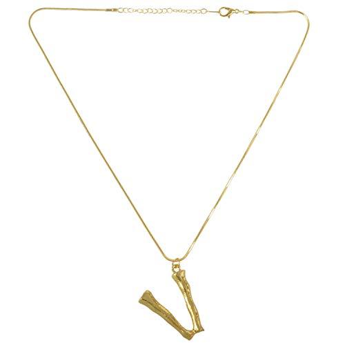 Fltaheroo Joya Collar De Letra Collar Colgante De Cadena De Oro Pendiente De Grande Letra Inglesa V