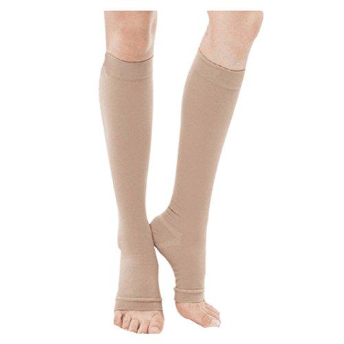 Haodasi Kniehohe abgestufte Kompression Mutterschaft Strümpfe Klasse 3 (40-50 mmHg) - Medizinisch Elastisch Strümpfe Krampfadern Socken
