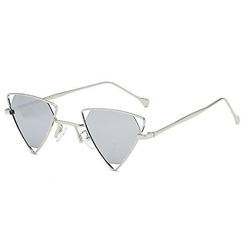 AMFG Personalidad punk Gafas de sol Hombres y mujeres Trend Gafas de sol Gafas de sol huecas de metal (Color : F)