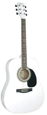 Johnson JG-620-W 620 Player Series Acoustic Guitar, White
