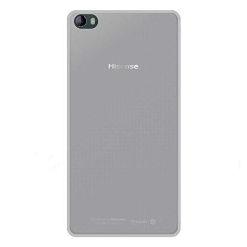 All Phone Store 2er-Pack [1 x Standardglas + 1 x Glatte Hülle] – 1 x Bildschirmschutz aus Hartglas 9H + 1 x Schutzhülle aus TPU-Silikon weiß für Hisense L695