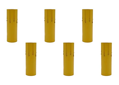 Creative Hobbies 4 Inch Tall Fibre Drip Candle Covers for Medium Base E26 (Edison) Sockets, Wholesale Pack of 6 Covers