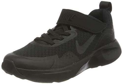 Nike Boy's WearAllDay (PS) Running Shoe, Black/Black-Black, 2 UK
