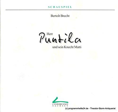 Programmheft Herr Puntila und sein Knecht Matti. Volksstück von Bertolt Brecht. Premieren 7. und 8. Februar 1998. Spielzeit 1997 / 98 Heft 5