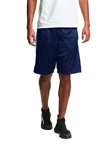 Champion Mesh Basketball Short Pantalones Cortos, Azul Marino, M para Hombre