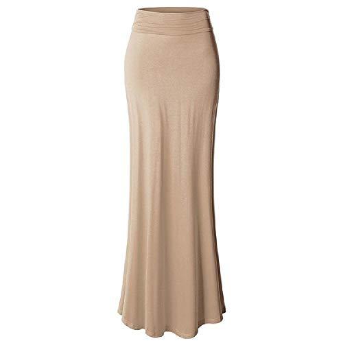 NP Damskie letnie spódnice do sufitu, wielokolorowe spódnice, jednolity kolor długie wąskie damskie spódnice