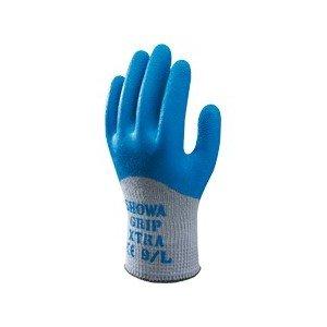 Showa - Gants de travail tricotés enduction latex GRIPXTRA - Couleur : Bleu / Gris - Taille : 10