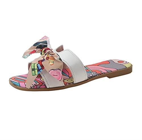 Mujeres Moda Sandalias Arco Slipper Flat Zapatos Casual Slide Summer Flip Flozs Playa Sandalia Slipper (Color : Colorful, Shoe Size : 41)