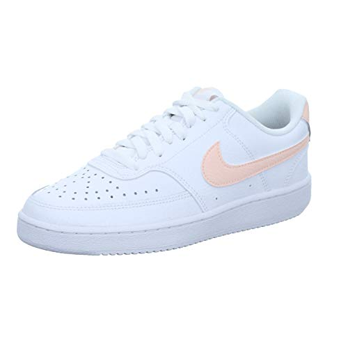 Nike Court Vision Low, Zapatillas para Mujer, White/Washed Coral, 41 EU