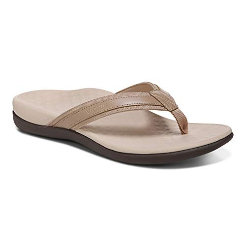 Vionic Women s Tide II Toe Post Sandal - Ladies Flip Flop with Concealed Orthotic Arch Support Macroon 9 Medium US