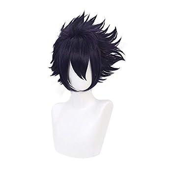 Qiancoshiar Tamaki Amajiki Cosplay Wig Dark Purple Short Wig Synthetic Costume Party Wig