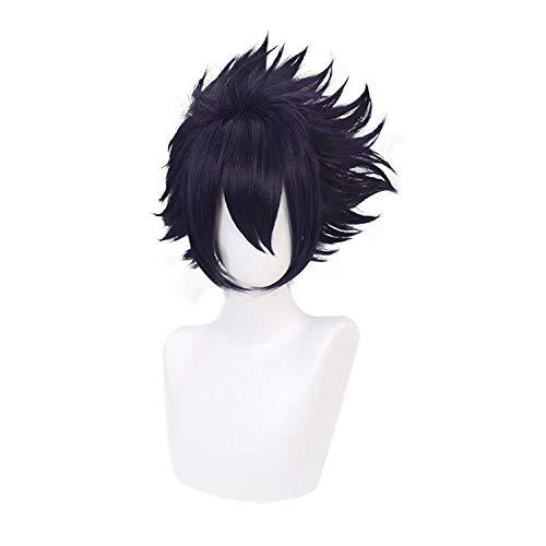 Qiancoshiar Choice Tamaki Amajiki Cosplay Wig Short Purple supreme Dark Syn