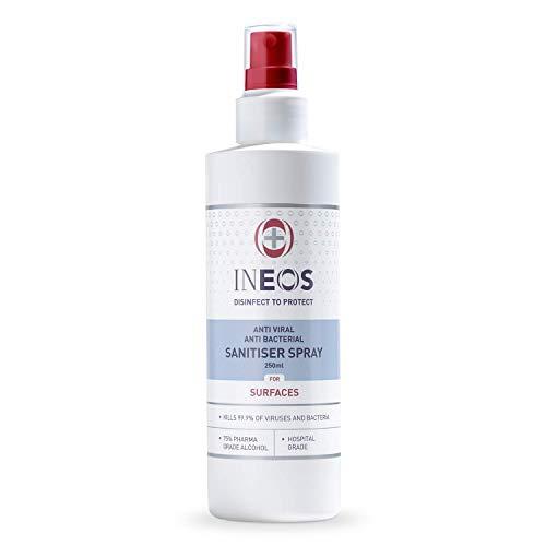 Hospital Grade Sanitiser Spray for Surfaces (250 ml) by INEOS Hygienics ....