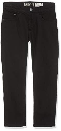 Lemmi Jungen Hose Boys Tight fit Big Jeans, Schwarz (Black Denim 0010), (Herstellergröße: 158)