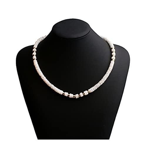 SAIO Conchas Naturales de Las Mujeres Declaración de Moda Retro Moda Chic Collar (Metal Color : 1)