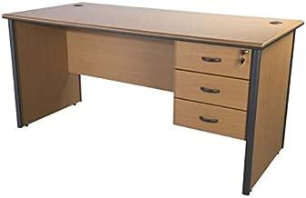 Mahmayi Maxim Contemporary Office Workstation Desk, 140 x 140 x 75 cm, Brown, YBMXC1400R