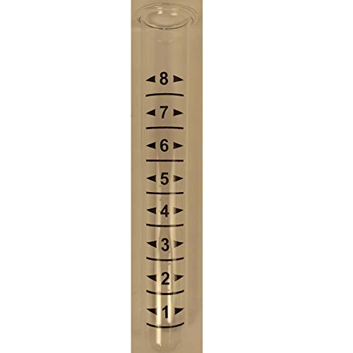 Ancient Graffiti Replacement Tube for Rain Gauge Glass Lip at The Top 10.5 Tall