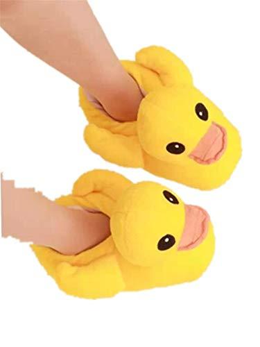 lhxyx Rhabarber Ente Baumwolle Hausschuhe Dicke untere Schuhe zu Hause Winter warm Baumwollschuhe, gelb, 39