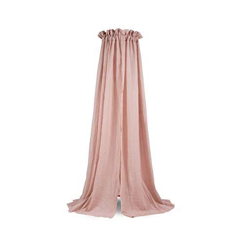 Jollein Betthimmel Baldachin für Kinder- und Babybett Vintage 155 cm pale pink | 002-001-00090