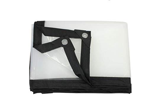 LLCXL transparant dekzeil met grommets en zuivere randen, transparante tarps Edge dubbellaags materiaal Sewing Grid tarpaulinfor trucks/bikes/courtyards,6x9ft/2x3m