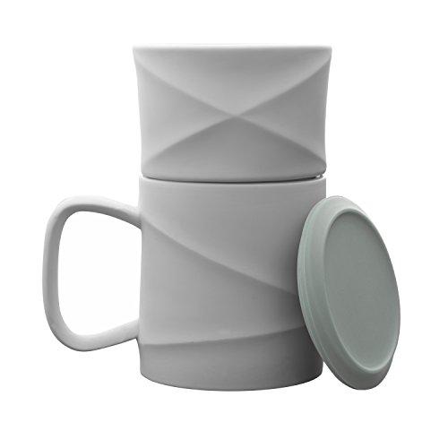 Toast Living Wave Kaffeebecher Set mit Filter, Weiß