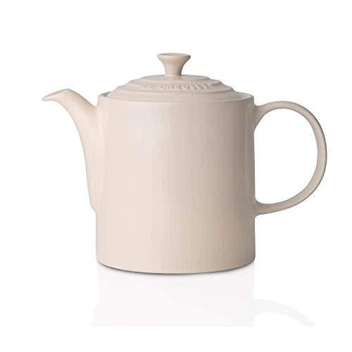 Le Creuset Klassieke theepot, rond, 1,3 liter, aardewerk, crème