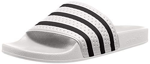 adidas Unisex-Erwachsene Originals ADILETTE Bade Sandalen - Weiß (WHITE/CBLACK/WHITE),EU 43