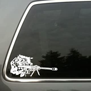 Sniper in Ghillie Suit vinyl decal small