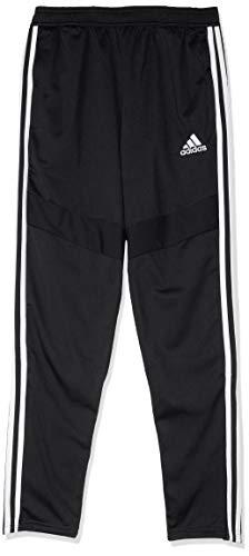 adidas TIRO 19, Pantaloni della Tuta Bambino, Nero Bianco, 910A