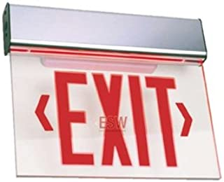 New York Approved LED Edge Lit Exit Sign with Battery Back-up-Aluminum Housing and Universal Mount ESW-NY-EL