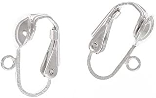 Beadaholique 5006620 Sterling Clip On Ball Earrings Findings, Silver