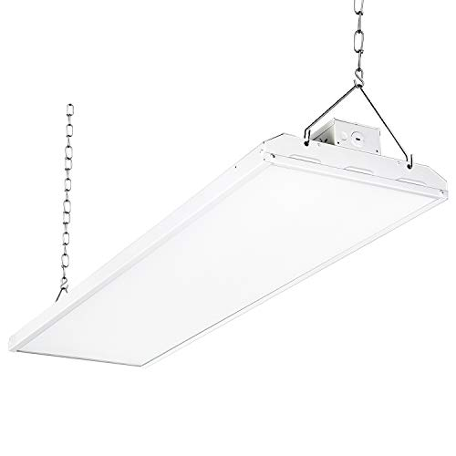 LED High Bay Shop Light, 4FT 210W 140LM/W Linear LED Industrial Workshop Light, Warehouse Aisle Area Light 29400lm, 5000K, 4 Lamp Fluorescent Equivalent, 0-10V Dim, UL Complied