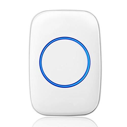 Wireless Doorbell Waterproof 300 Meters Remote Cordless Doorbell 36 Chimes Smart Doorbell for Home Office (Color : White, Size : Receiver)