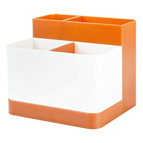 BOX Simple Plastique Cosmétique Boîte de Rangement de Bureau Rouge À Lèvres Bijoux Soins de La Peau Produits de Stockage D'Affichage Boîte 12,5 × 12,5 × 10,5 Cm,Orange