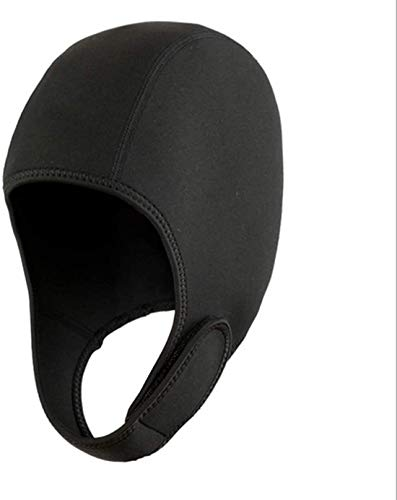 2mm Scuba Diving Hood Thermal Neoprene Wetsuit Hat Cap with Chin Strap Adjustable Diving Cap Swimming Cap Surfing Thermal Hood Beanie Headgear for Snorkeling Kayaking Sailing Canoeing Water Sports