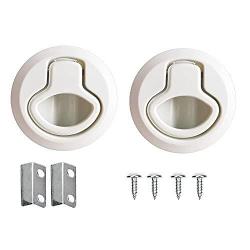KINRIKA Pack de 2 cerraduras de Flush Hatch Locker Cabinet Pull Lift Hatch...