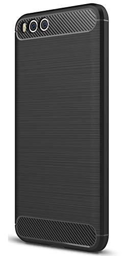 XINFENGDI Cover Xiaomi Note3, Carbonio Fibra Texture Protezione da Cadute e Urti TPU Silicone Morbido Custodia Cover per Xiaomi Note3 Smartphone - Nero