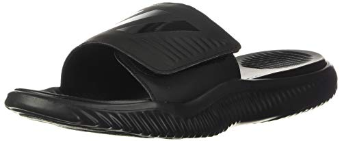 adidas Men's Alphabounce Slide Sport Sandal, Black/Black/Black, 13 M US